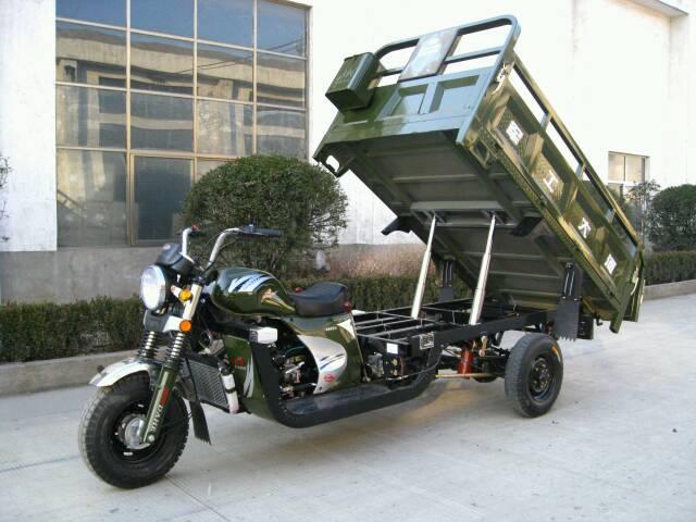 军工望江200cc三轮摩托车_大河三轮200自卸双液压摩托车质量如何