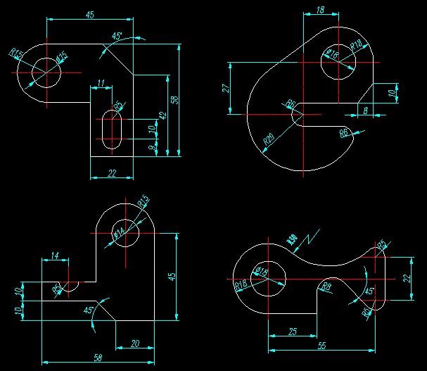 cad机械制图基础_求cad基础练习题 机械方面的_百度知道