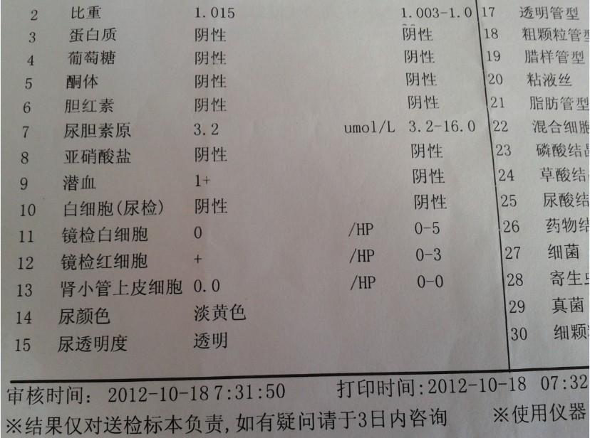 肌酐偏高尿常规正常_尿检及肾功能化验单!_百度知道
