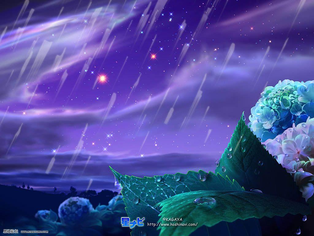 百度雨滴桌面_求一张紫色的天空,流星划过夜空的壁纸~梦幻点的,最好不要 ...