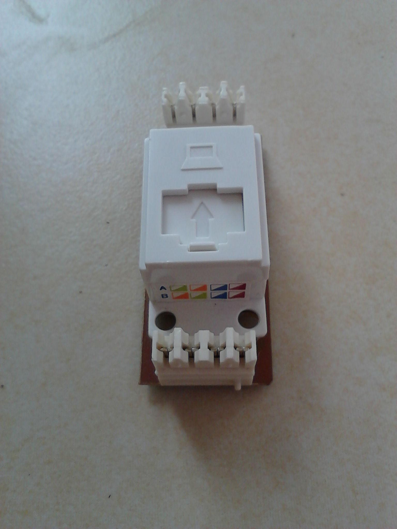 企业网络理员_网线插座接法在网上找的都是不一样的求这种接线盒的网线接法