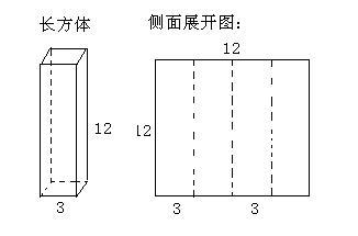长方形的侧面积公式_底面是正方形的长方体,把它的侧面展开后恰好是一个边长为12cm ...