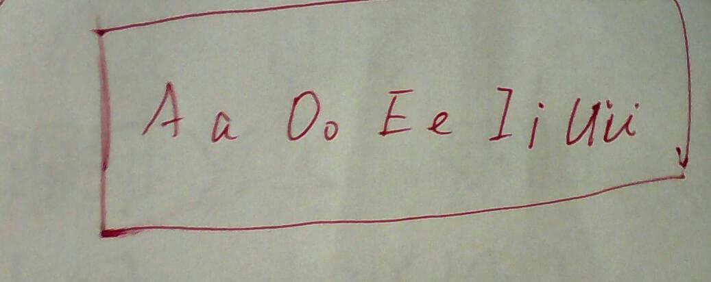 按字母表順序寫出5個元音字母的大小寫形式圖片