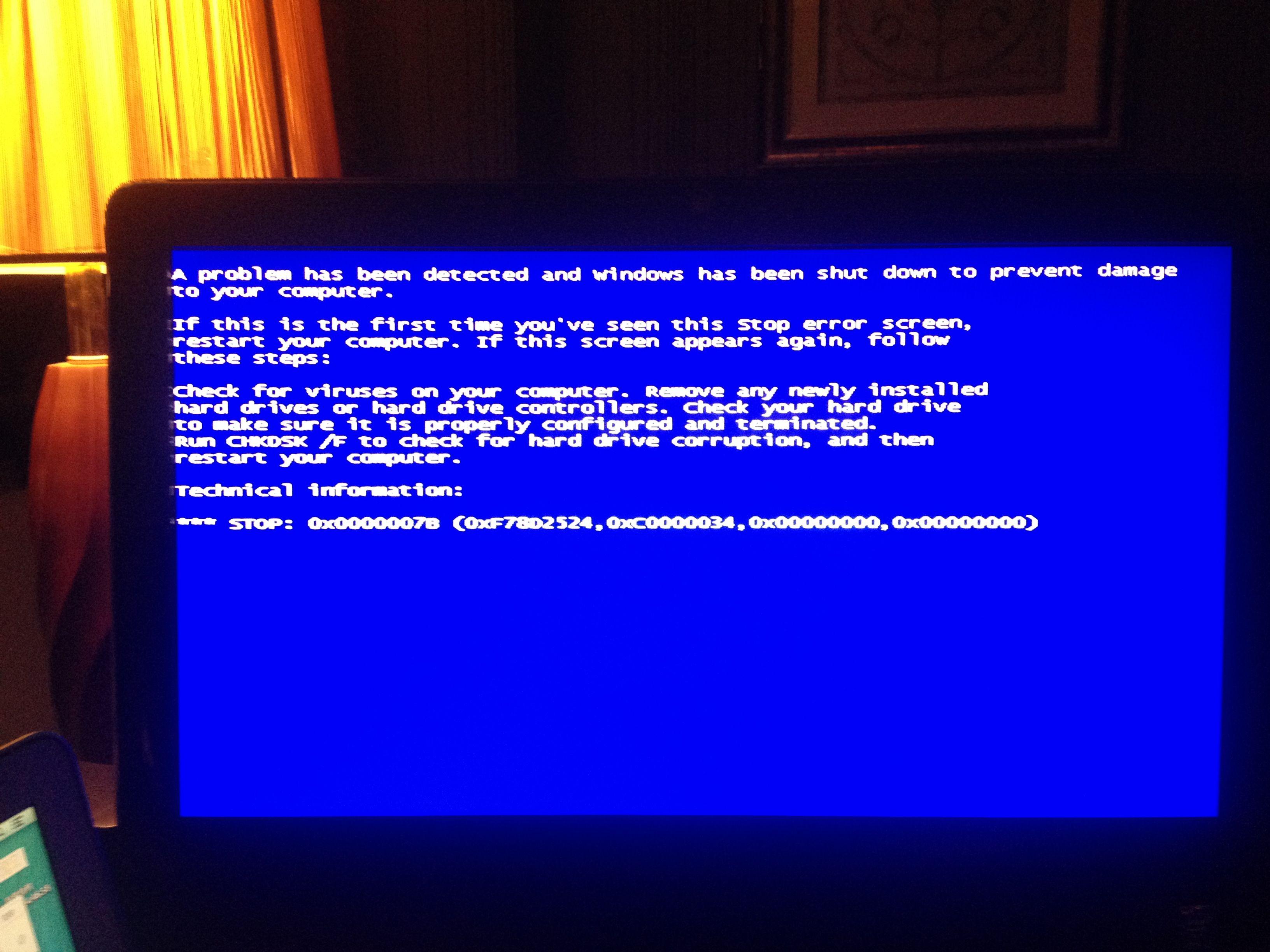安裝系統藍屏圖片