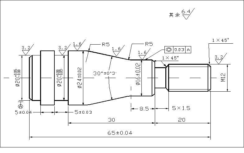 轴类零件数控车削工艺设计及编程_轴类零件的数控加工工艺设计与编程_百度知道