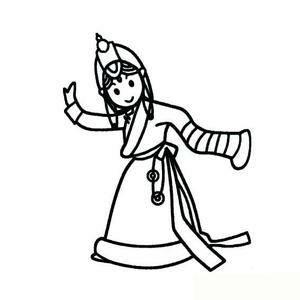 蒙古族人物简笔画_藏族小姑娘简笔画图片_藏族小姑娘简笔画图片下载
