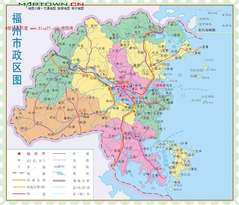 福建福州市区地图_急求福州区域划分图_百度知道