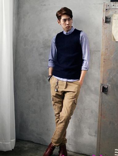 這樣的男生該穿什么樣的衣服去單位面試和上班?高分!圖片