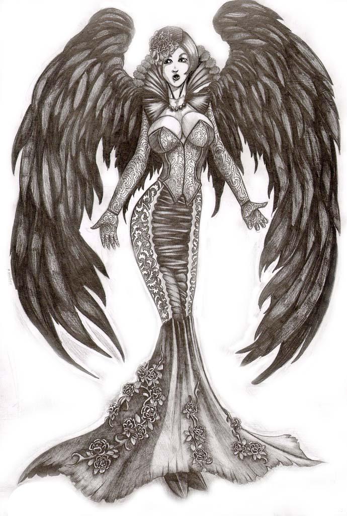 审判天使纹身_十二翼堕落天使闪图_十二翼堕落天使闪图画法