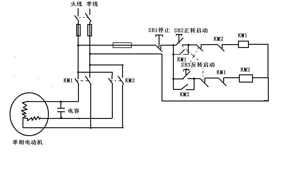 220v交流电机正反转_220v电机怎么正反转原理图_百度知道