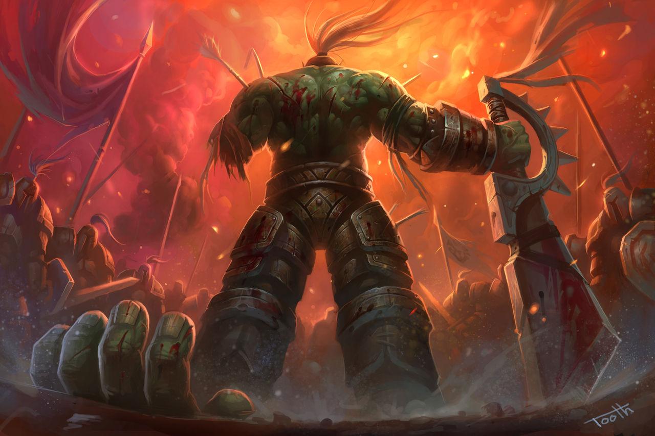 魔兽世界兽人战士_求魔兽世界兽人战士壁纸_百度知道