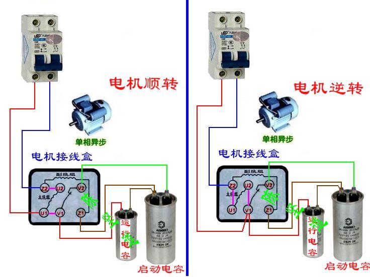 单相电表互感器接法_四根线单相电机接线图_四根线单相电机接线图画法
