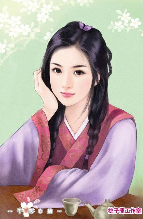 唐朝妃子图片_2014清朝美女手绘素描手绘素描古装美女 古装美女手绘素描图图片