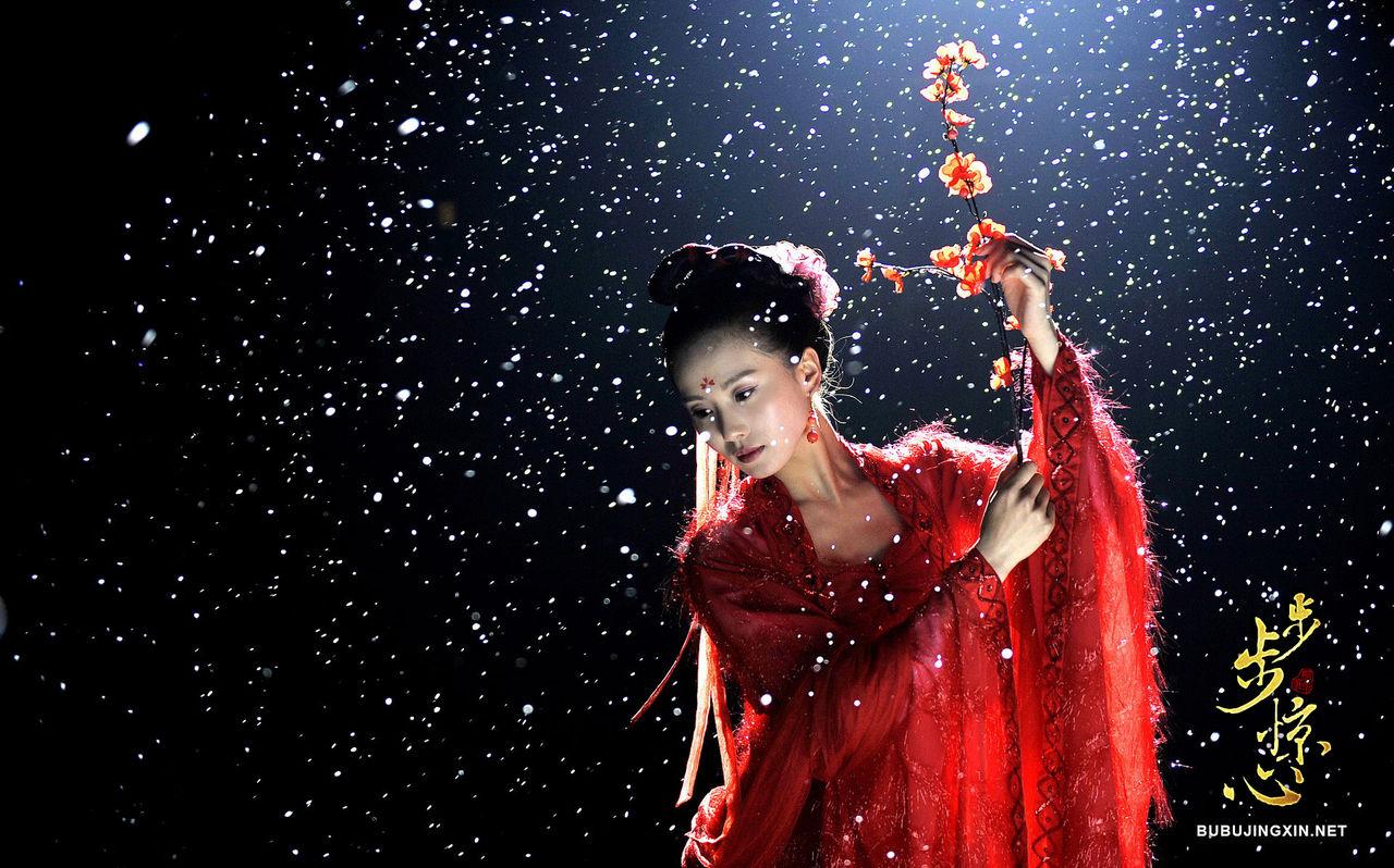 刘诗诗侧面_求刘诗诗在步步惊心里跳舞的图片。[穿红衣服给四阿哥跳的 ...