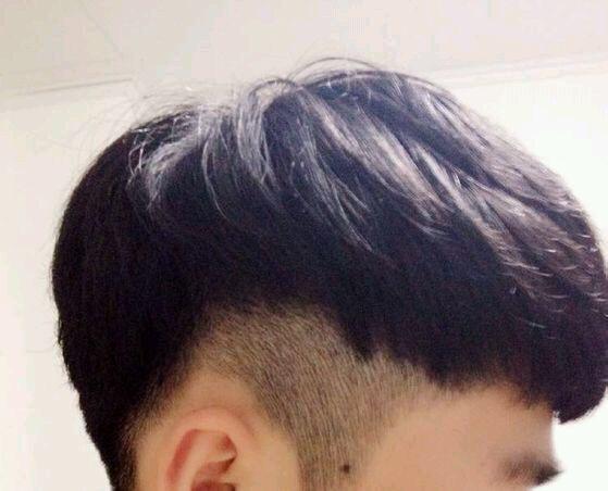 男生后掏空頭發要多長才可以剪?圖片
