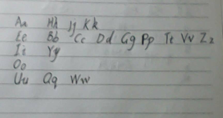 把26個英文字母按元音歸類.拜托了學霸們!圖片