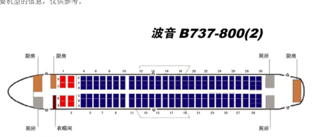 厦航737飞机座位分布�_波音777哪个座位好-波音737中哪个座位好_波音737800哪个座位好