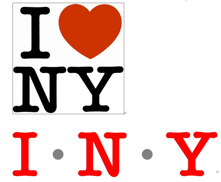 我?9???iny???,?i?_跪求i love ny的字体!