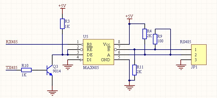 max485应用电路_max3485典型电路图-lm324n典型应用电路图_ap8012典型电路图_max3485电路 ...