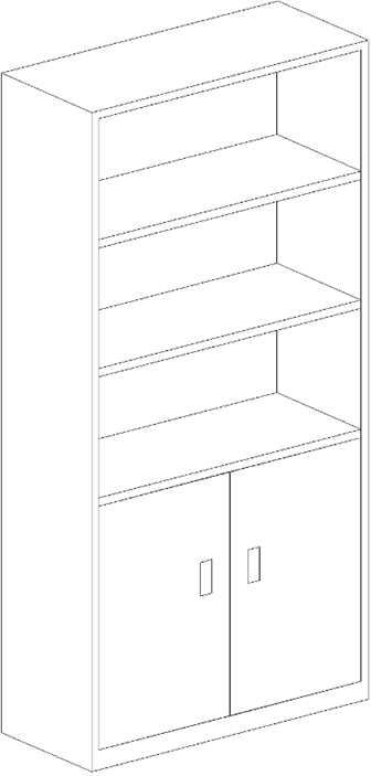 如何用cad二維線條畫矩形柜子圖片