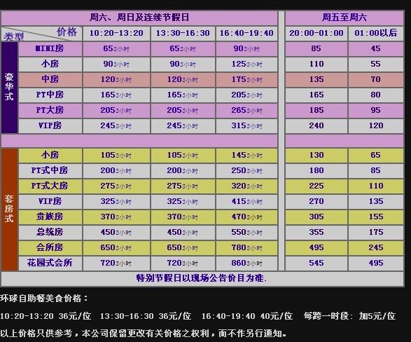 广州自助餐ktv_7个人去堂会,要包自助餐的,时间是周六,日头和夜晚分别是 ...