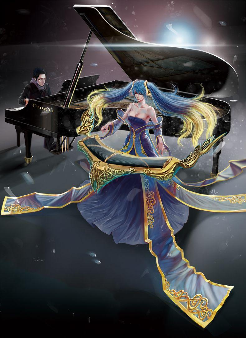 盲僧和琴女卡通情侣头像_琴女跟谁是一对-琴女跟劫的故事|lol盲僧和琴女的故事|琴女跟 ...