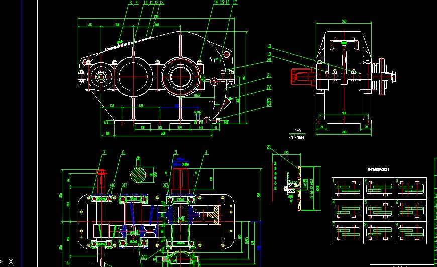 二级减速器箱体cad_二级减速器cad图纸_百度知道