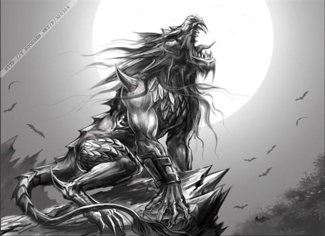 九匹血狼纹身图案_血狼纹身图片_血狼纹身图片下载