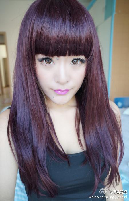 2014头发流行什么色_我这种头发适合染什么颜色,还有我这头发烫成中分好不