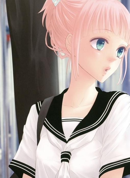 qq头像女生粉色头发_找一张粉红色头发女生的QQ头像_百度知道