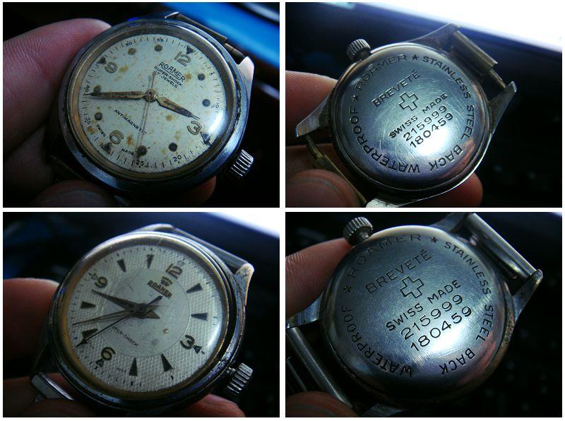红十字的手表_一对老罗马手表 机械表 能走 背面有红十字会的标志,还有SWISS MADE ...