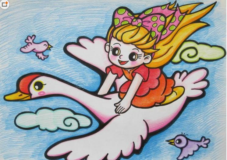 初中油画棒画图片大全_花的彩笔画作品_花的彩笔画作品画法