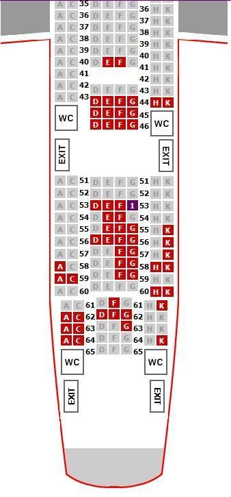 海航空客340座位图_帮忙在飞机上选座位,空客A340-600_百度知道