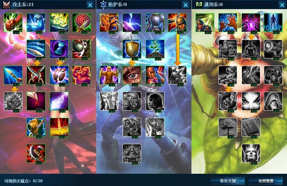 肉德玛天赋加点图_英雄联盟天赋技能怎么加点- -,我比较喜欢玩盖伦,德玛西亚 ...