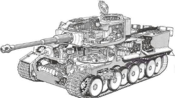 虎式坦克cad图纸_求虎式坦克结构图_百度知道
