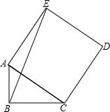 如图abc中ac ab bc_如图,Rt ABC中,∠ABC=90°,AB=1,BC=2,以斜边AC作为正方形ACDE,则 ...