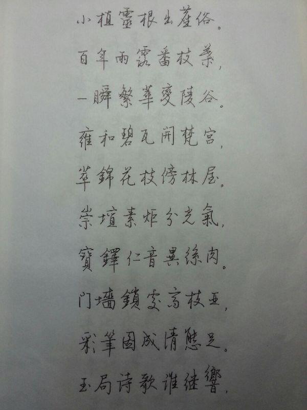 大學生字丑,想練字求推薦字帖和方法(鋼筆字)圖片