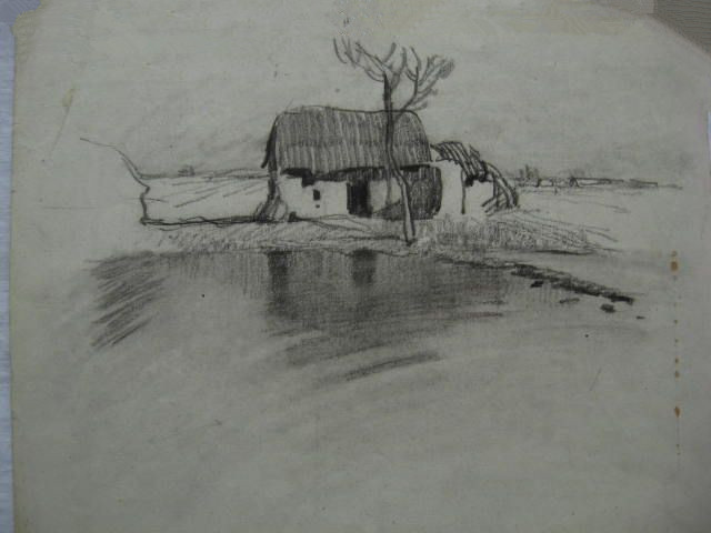 手绘画铅笔 风景_求比较简单的风景铅笔画!!最好是外国的,要大图~清楚的哦 ...