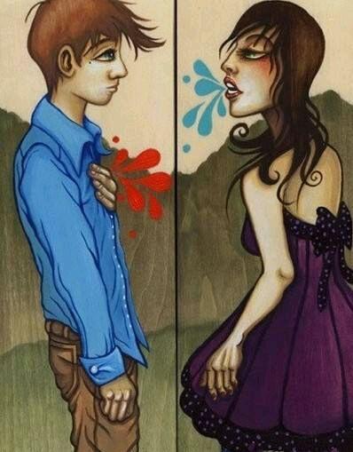 男女吵架下雨的图片_求一张图片,恋爱中男女吵架,女生出口伤男生的心,男生捂住 ...