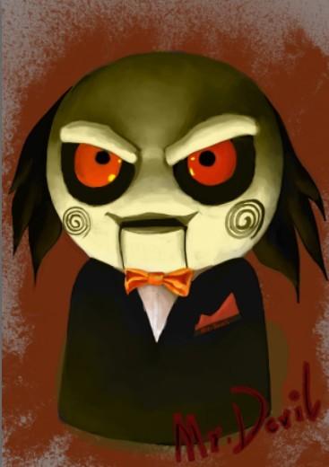 电锯惊魂小丑头像_求一个夺魂锯的QQ头那个像带面具的小丑_百度知道