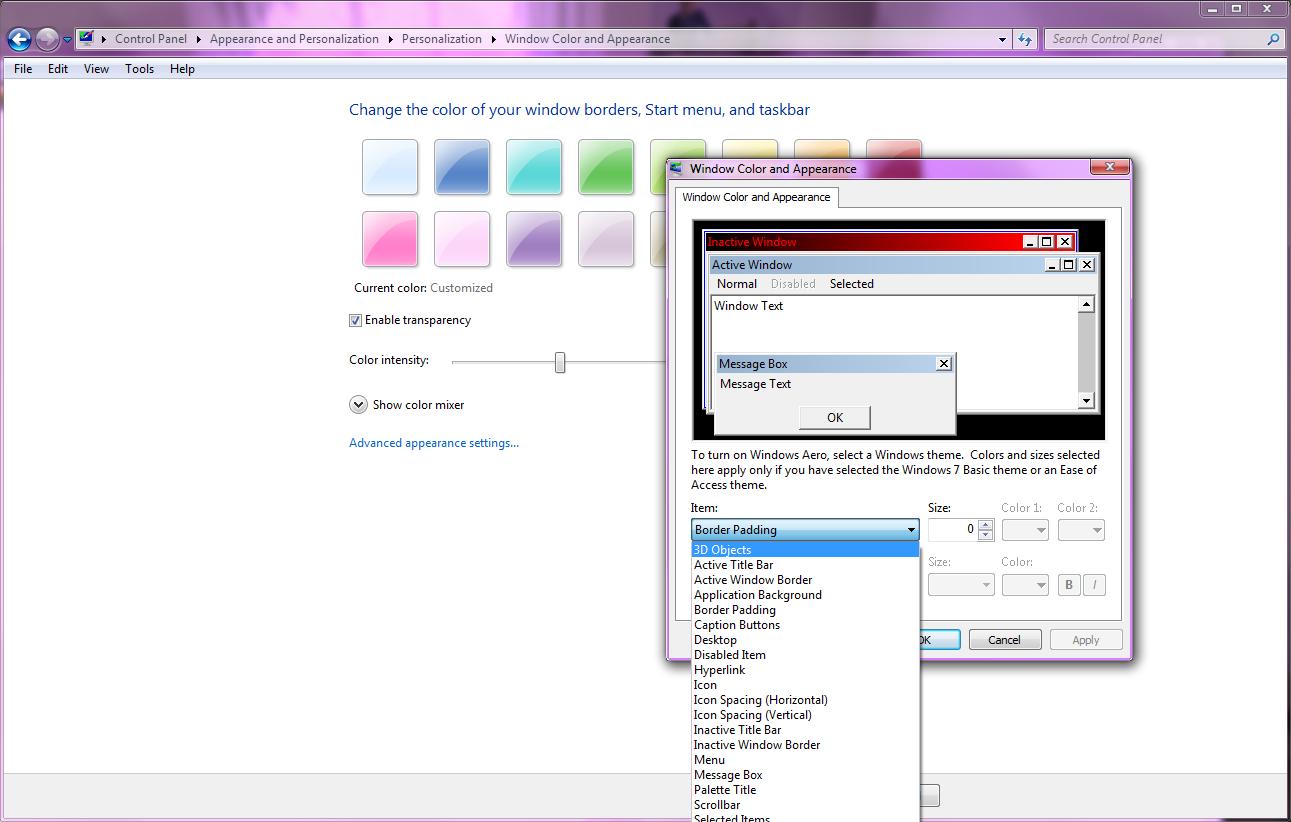 http://c.hiphotos.baidu.com/zhidao/pic/item/d043ad4bd11373f098ec8a9da00f4bfbfaed04e4.jpg_win7更换主题以后为什么窗口颜色没有变?_百度知道