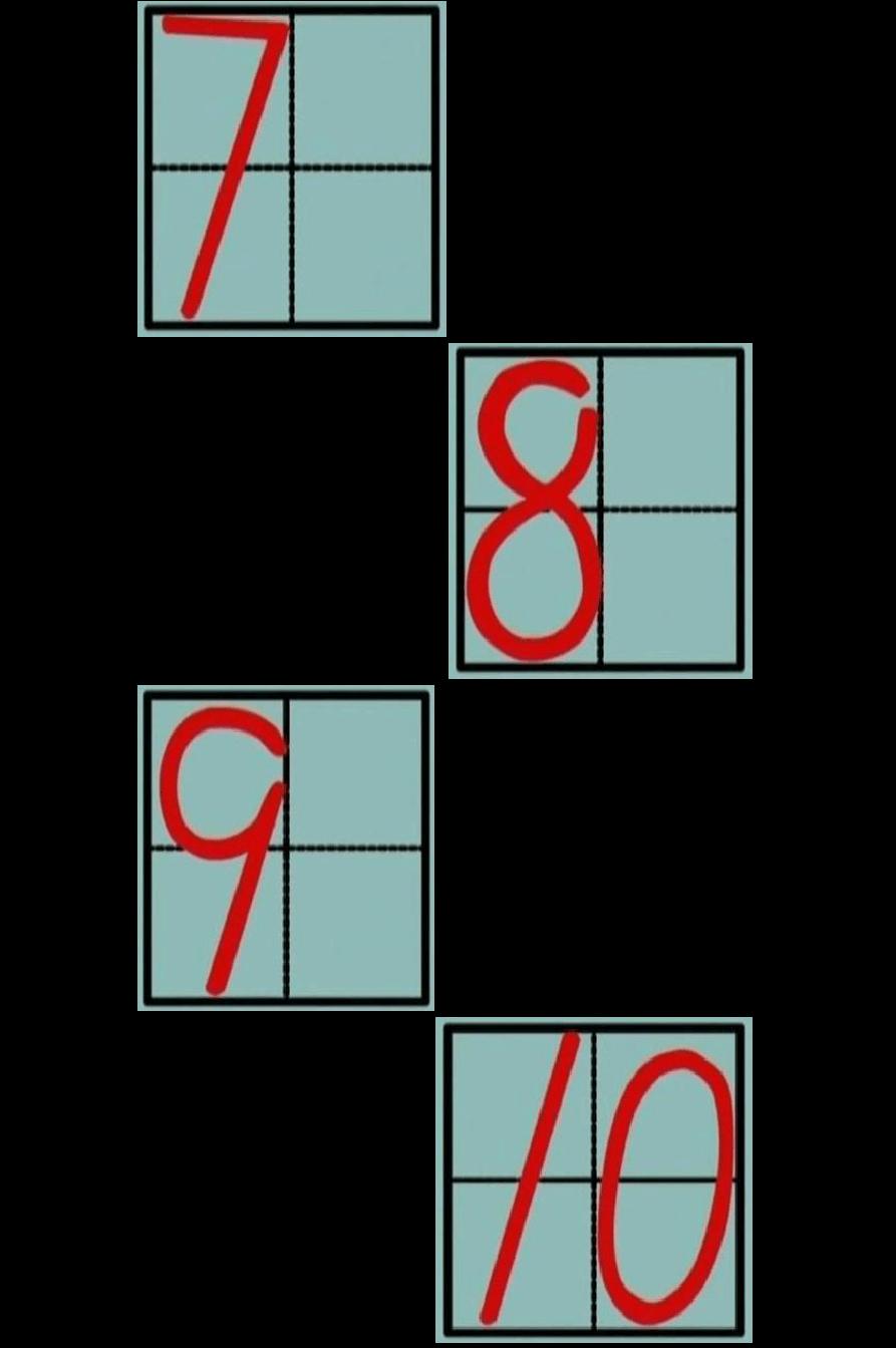 求田子格阿拉伯數字的寫法圖片