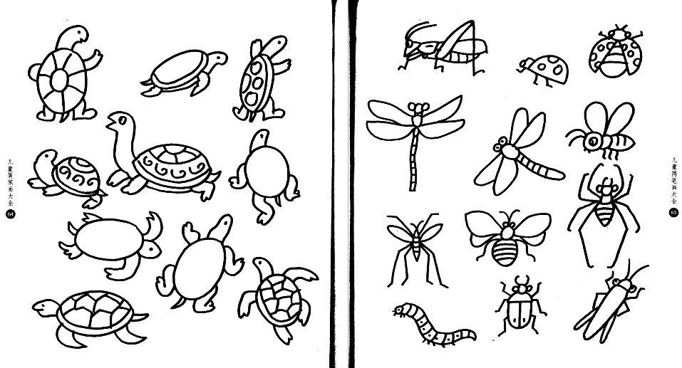 图图简笔画_蝈蝈简笔画,一定是简笔画或者填色图!!_百度知道