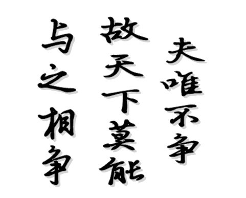 "http://b.hiphotos.baidu.com/zhidao/pic/item/a8014c086e061d9513b305a87bf40ad163d9caac.jpg_求一幅楷书书法图。""夫唯不争,故天下莫能与之相争""_百度知道"