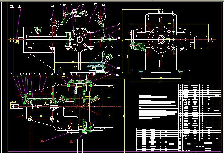 主减速齿轮零件图_单级圆锥齿轮减速器装配图_百度知道