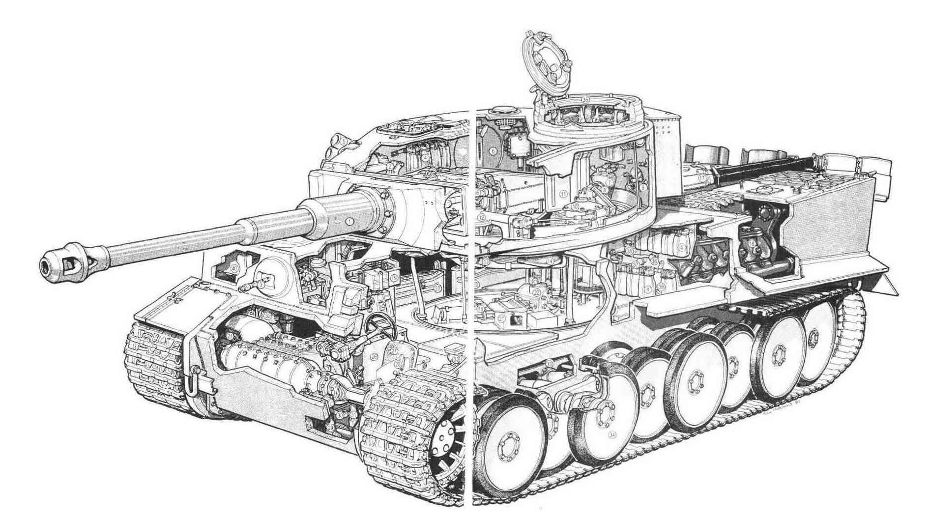 虎式坦克cad图纸_谁有虎式坦克的详细图纸?主要是内部结构和机械结构。_百度知道