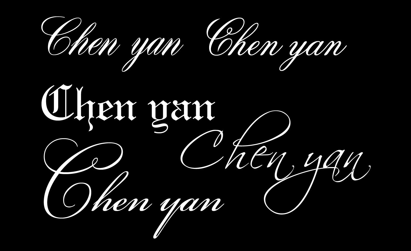 抱歉的英文_请问下chenyan的花体英文如何设计 纹身用的.