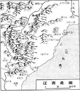 遼西走廊的地理位置圖片