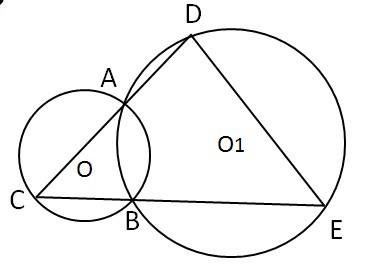 如图 圆o2与半圆o1_如图 已知圆o1与圆o2 如图 已知圆o1与 圆o2相交于a b两点延长圆O1 ...