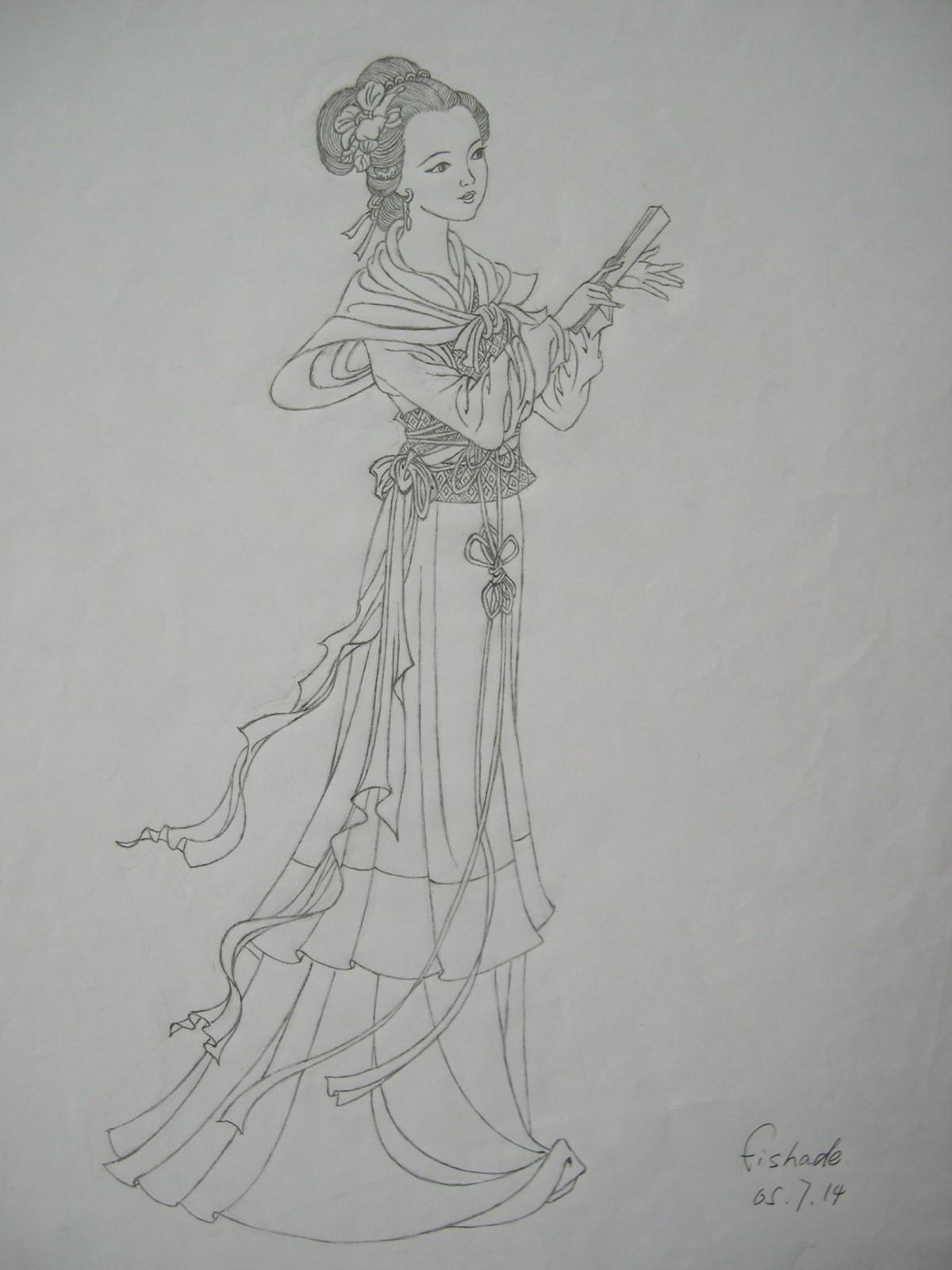 手绘简笔铅笔画唯美_古代动漫铅笔画_古代动漫铅笔画画法